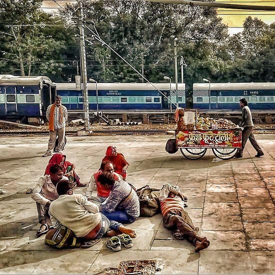DepartureSitting Outdoors Day Indiantourism Incredibleindia Indianrailwaysdiaries Indianrailways Windowseatproject People