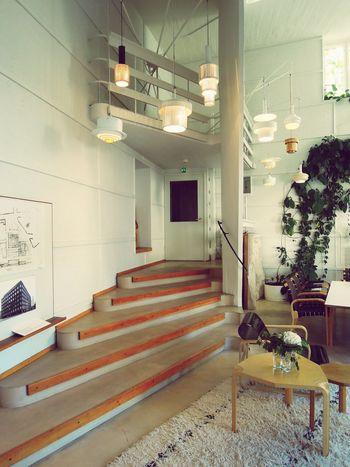 Alvar Aalto Alto Studio Helsinki Tiilimäki Munkkiniemi Finnland 1956 Indoors  Architecture Built Structure Steps Lightning Office Architecture_collection Architecturelovers Architecturephotography Architectureporn