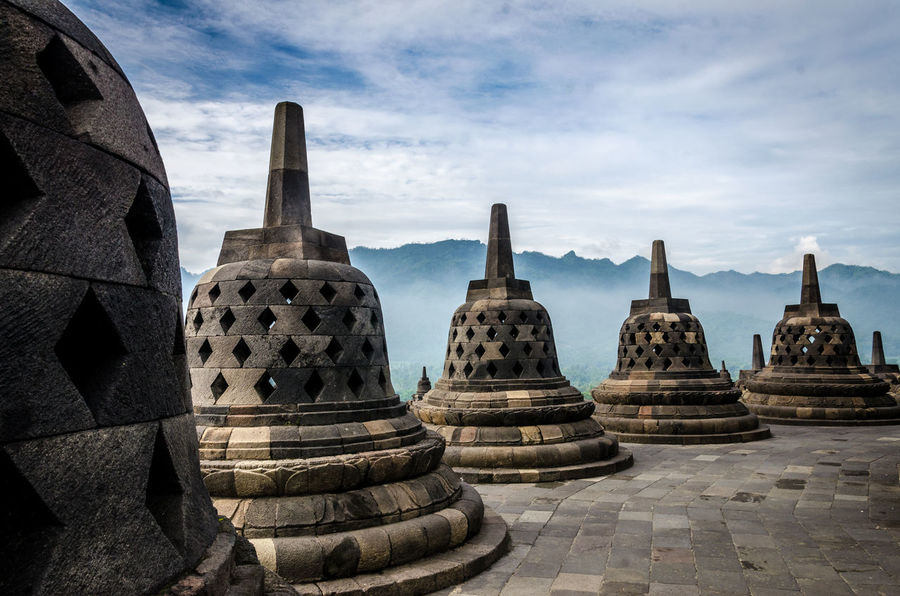 Ancient Ancient Civilization Architecture Buddhism Cloud - Sky Day Fog Jogja Jogjakarta Landscape No People Outdoors Pilgrimage Place Of Worship Religion Scenics Shrine Sky Stupa Tranquil Travel Travel Destinations Yogjakarta