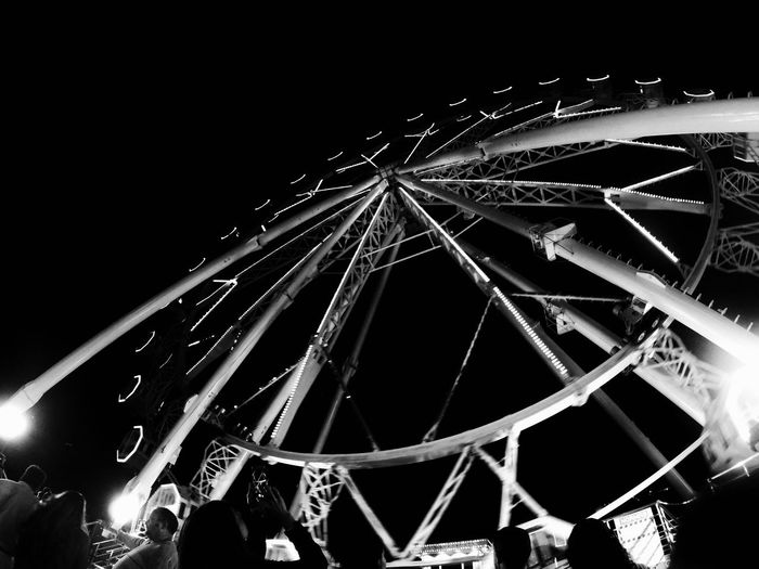 Arts Culture And Entertainment Nightlife Amusement Park Night Fun Illuminated Amusement Park Ride Enjoyment No People Excitement Ferris Wheel Popular Music Concert Outdoors Sky Noria, Feria Eye Of A Photographer Fun Bilbao Aste Nagusia Jaiak Gopro