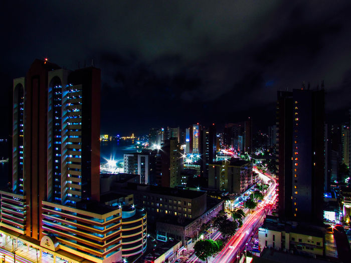HUAWEI Photo Award: After Dark Architecture Building Building Exterior Built Structure City City Life Cityscape Cloud - Sky Financial District  High Angle View Illuminated Landscape Modern Nature Night No People Office Building Exterior Outdoors Sky Skyscraper Street Tall - High
