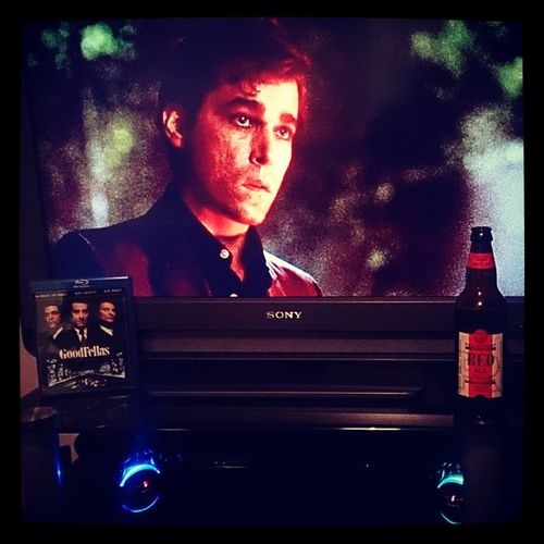 """Goodfellas(Fave movie) & Red Ale. Oh, I like this one... One dog goes one way, the other dog goes the other way, and this guy's sayin', """"Whadda ya want from me?' Goodfellas Rayliotta Robertdeniro Henryhill joepesci martinscorsese gangster redale marstons revisionist pacifichop"""