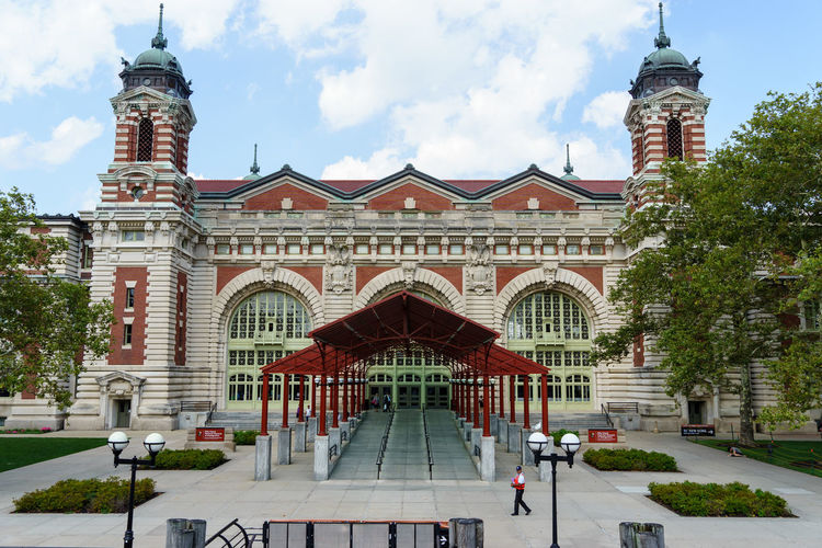 Ellis Island  Immigration New Jersey New York New York City Sightseeing Statue Of Liberty USA America Architecture Building Exterior Built Structure City Day Famous Place History International Landmark No People Outdoors Place Of Worship Registration Registration Hall Sky Tree