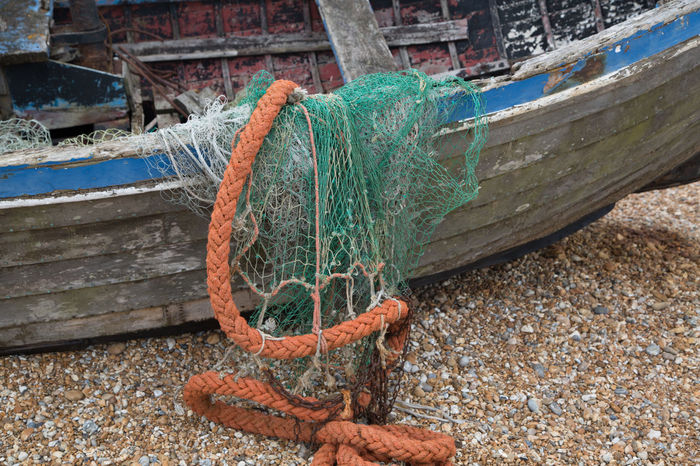 Beached Boat Boats⛵️ Close-up Fishing Boat Fishing Net Fishing Time No People Outdoors Rope Working Boat