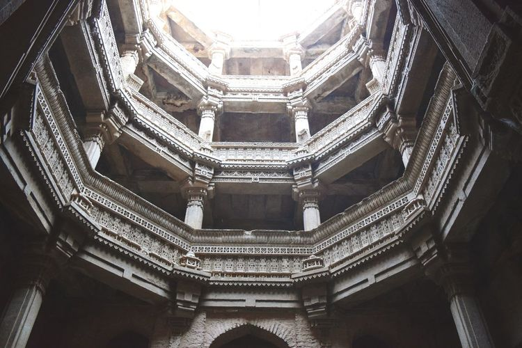 Architecture Low Angle View Built Structure Adalajstepwell Adalaj Stepwell Ahmedabad Stepwell Travel Destinations Architecture Architectural Column History