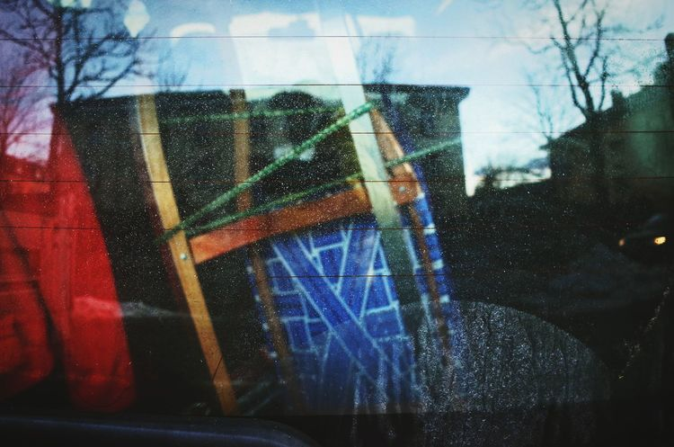 Glass - Material Transparent Window Street Photography A Frame Within A Frame Lieblingsteil Close-up Reflection Miles Away Season  Dolomites South Tyrol Südtirol City Street Everybodystreet Everyday Lives City Life Sled Sledding Sledding ❄ Wintertime Winter Car Windshield Window The City Light