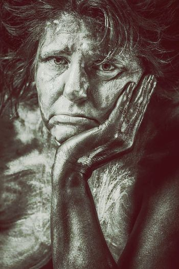 Frozen In Time Old Lady Old Ladies Poorness Worrying Sadness Sad & Lonely Sad Eyes Emotions Grey Photography Grey Spirit Emotion Womanity  Grandma Grandmother She Is So Into It... Melancholy Melancholic Hand On My Head  Fingers Hands On Sad Face Sad Emotions And Feelings Sad Lonely