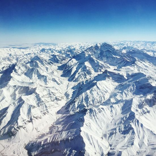 Aerial View Winter Andesmountains Landscape Cold Temperature Beauty In Nature