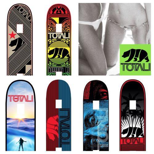 TotaliCali Board Company Summer 2014 skateboard lineup. California TotaliCali Skateboarding