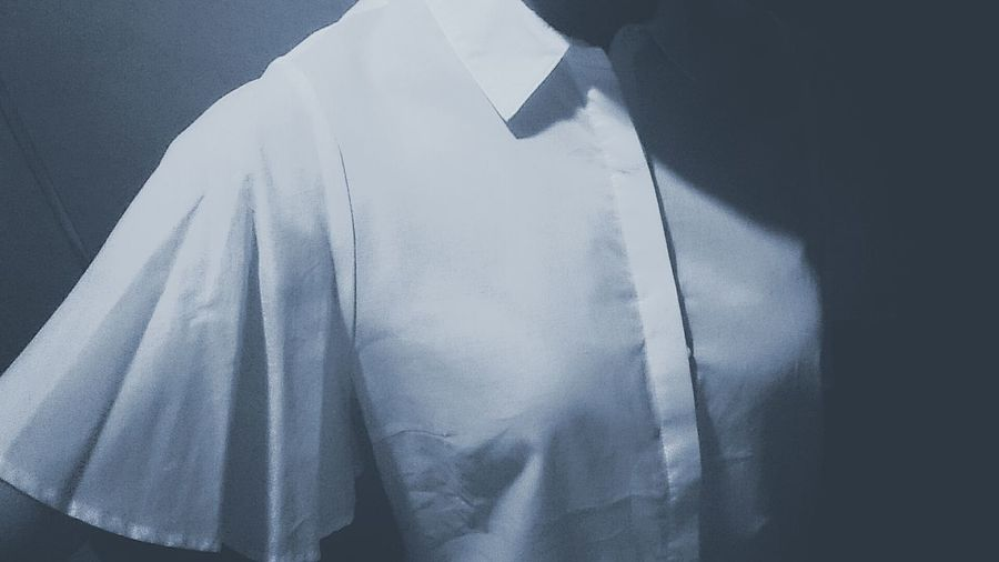 Textile No People Indoors  Close-up Day Shirt Frill Sleeve  Dressy Blue Monotone The Portraitist - 2017 EyeEm Awards