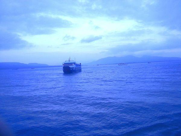 The world is very blue Blue Sky And Clouds Deep Blue Sea World A Long Time Ago
