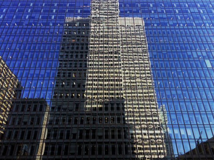 Skyline Skyscrapers Reflection Architecture