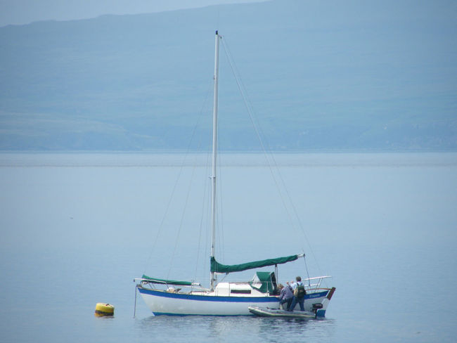 Beauty In Nature Boats Day Horizon Over Water Isle Of Skye Nature Nautical Vessel Outdoors People And Boats Preparation  Scenics Scotland Sea Seascape Sky Stein Transportation Water