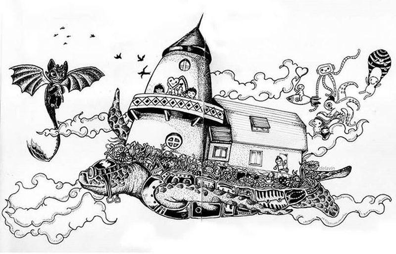Featuregalaxy Doodle Artsy Dibujo Drawing Sketchbook