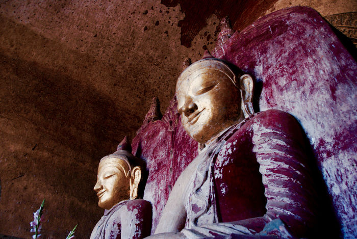Buda Travel Photography Traveling Ancient Civilization Bagan Close-up Day Indoors  Low Angle View Myanmar No People Religion Sculpture Spirituality Statue Travel Destinations