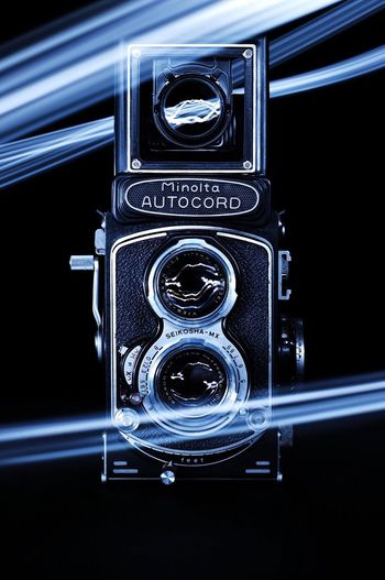 Close-up No People Black Background Light Painting Studio Vintage Camera