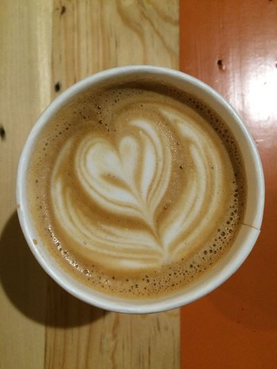 …now enjoying this Cappuccino .