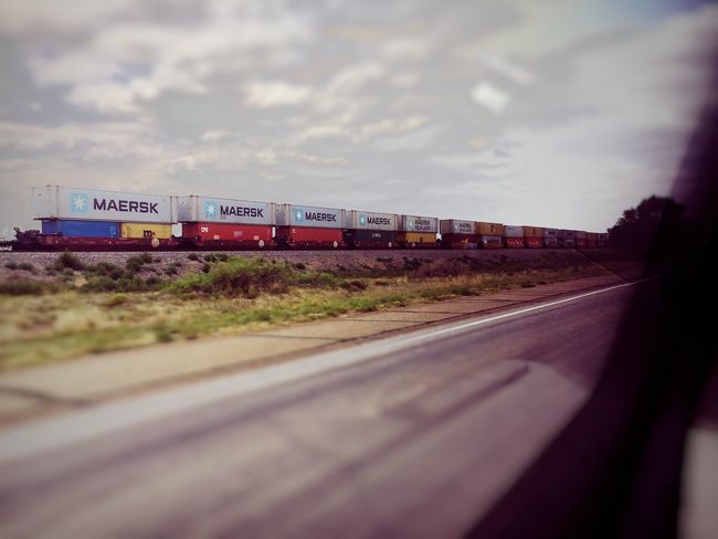 Transportation Road Text Sky Mode Of Transport Selective Focus No People Day Cloud - Sky Land Vehicle Freight Transportation Outdoors