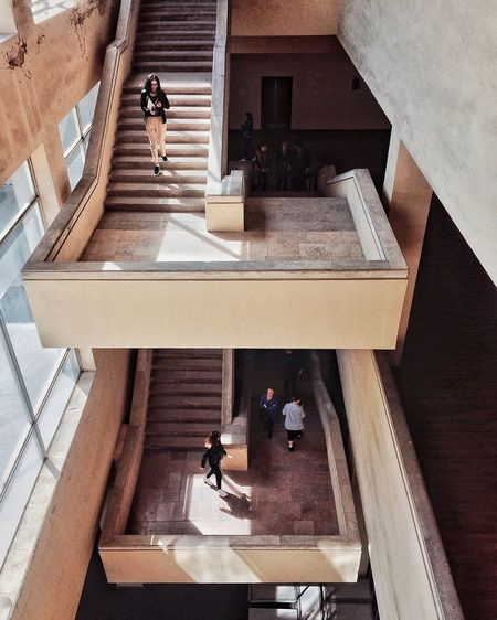 Staircase Real People High Angle View Architecture Built Structure Steps And Staircases Lifestyles Building Exterior Men One Person Day Photography Themes Photographing Outdoors Leisure Activity Nature Adult Women Sunlight