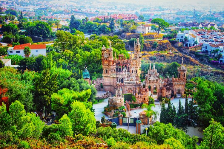 colomares castle benalmadena Castle View  Colomares Castle Green Castle Benalmádena, Malaga, Spain Costa Del Sol EyeEm Selects EyeEm Best Shots No People Voyage Spain♥ Nature Tree Water Green Color