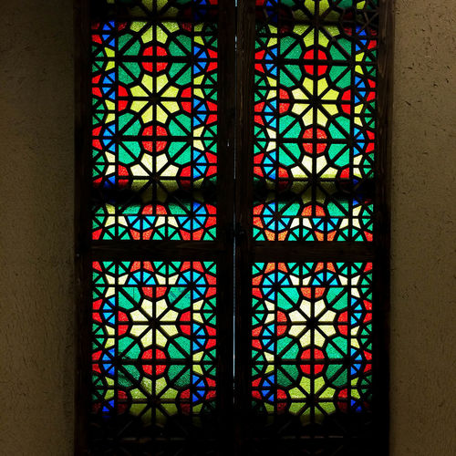 Architecture Art And Craft Building Built Structure Close-up Creativity Day Design Floral Pattern Full Frame Glass Glass - Material Indoors  Multi Colored No People Ornate Pattern Place Of Worship Stained Glass Window