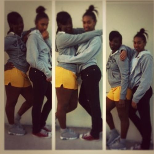 Yeahh I'm Black Or What Ever But Me && My BESTFRIEND After Practice Todayy