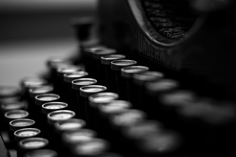 While away on vacation i came across an old school typewriter, so i wanted to get some studio shots of the typewriter. Enjoy Antique Blackandwhite Photography Bnw_collection Bokeh Photography Communication Darkness And Light EyeEm Gallery Howard Roberts Indoors  Ink Keys Letters Light And Shadow Lighting Equipment Mechanical Mechanical Things Metalic No People Number Studio Studio Shot Typeface  Typewriter Writer Writerscommunity