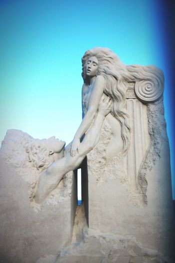 Sandsculpture Summer Festival Summer2018 Revere Beach Sand Art Ocean Nature Summerdays☀️ Canon Canonphotography Ancient Civilization Statue Sculpture King - Royal Person Ancient History Sky Landscape Mythology