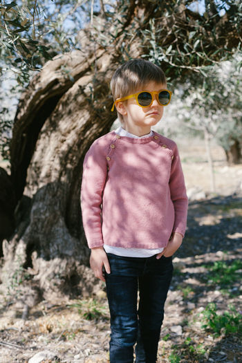 Glasses Kids Pink Casual Clothing Childhood Day Kidsmodel Kidsphotography One Person Outdoors Play Playing Real People Standing Tree