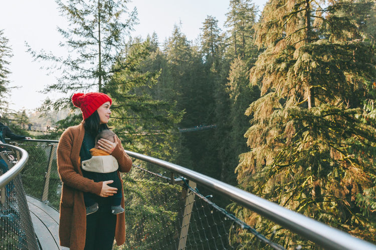 A mother an her baby exploring the Pacific Northwest. Forest Trees Nature Beautiful West Coast Pacific Northwest  Mother Baby Travel Exploring Adventure