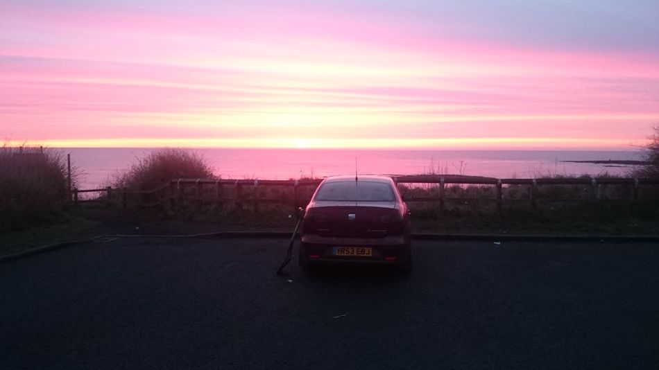 my seat cordoba tdi at Sunrise at the sea front - old hartley. Northumberland Uk Transportation 2016 Enjoying Life First Eyeem Photo No Filter, No Edit, Just Photography Whitley Bay Sunrise Landscapes With WhiteWall Seat Cordoba 6l Enjoying Life Dirty Diesel TDIpower Tdi Showcase April