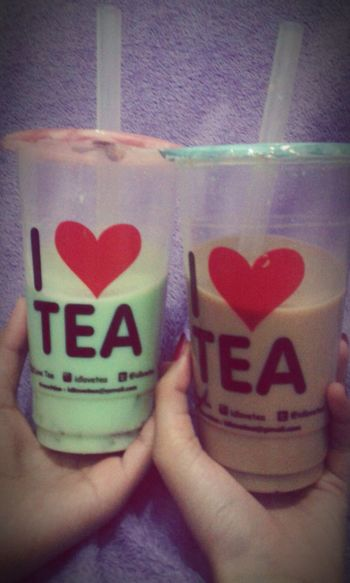Tea Lovers Check This Out Chill Out Drink Honeydew Milk Tea + Grass Jelly Milk Tea