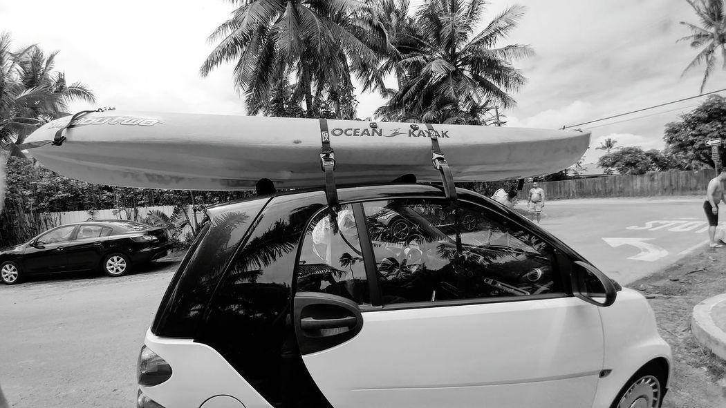 Beep beep. Smartcar Roadmaster Turbo Hawaiilife Islandlife Waterscape Vroom Vroom Zoomzoom Kayaking Hightide Kailua  TheMokes Mokuluas Crystal Clear Fun Summer Aloah Mahalo Polynesian Ocean Blackandwhite