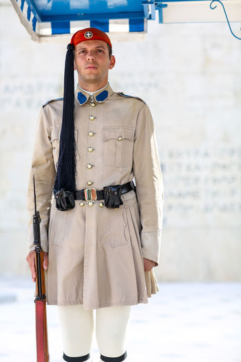 Change of the Greek guard, Syntagma Square, Athens Athens Ceremonial Changing Of The Guard Evzones Evzoni Fustanella Greece Greek Greek Guard Greek Soldier Hellenic Marching Outdoors Portrait Presidential Guard Soldier Syntagma Square Tomb Of The Unknown Soldier The Portraitist - 2017 EyeEm Awards