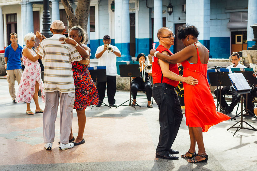 Adult Building Exterior Cuba Collection Cuban Cuban Life Dancing Getting Inspired Having Fun Life Style Medium Group Of People Music Musician Old Havana Outdoors People Performance Real People Salsa Dancing Standing Travel Travel Destinations