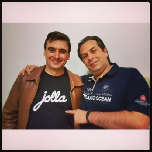 Thank you zzste jollahq for the nice time with #Jolla and #SailfishOS JollaIT #Rome #meetup Meetup Rome SailfishOS Jolla