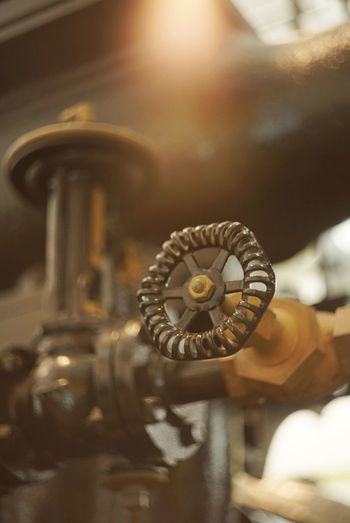 Got myself a new vintage lens. Straight out of camera photo. Vintage Industrial Knob Gauge Old Old Fashioned Turn Faucet Gear Gears Antique Brass Iron