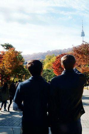 Seoul,Namsan, Tawor, Togetherness Day Cultures Standing Seoul, Korea Sky