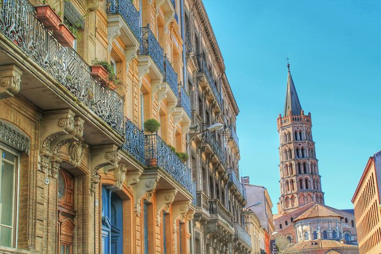 Apartment Architecture Balcony Building Building Exterior City Façade France Historic House Midi-Pyrenees Street Toulouse Tower World Heritage