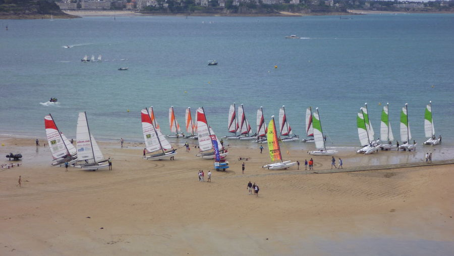 Beach Nautical Vessel Non-urban Scene Outdoors Sailboat Shore Vacations Weekend Activities Transportation Color Of Sport