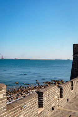 Ancient History Archaeological Site Architecture Castle Great Wall Hebei Sunlight Tourist Attraction Blue China Chinese Fortification Historic Site History Landmark Military No People Outdoors Qinhuangdao Scenics Sea Shanhaiguan Sky Water