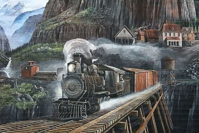 Wall art Street Art Train Arlington, Wa