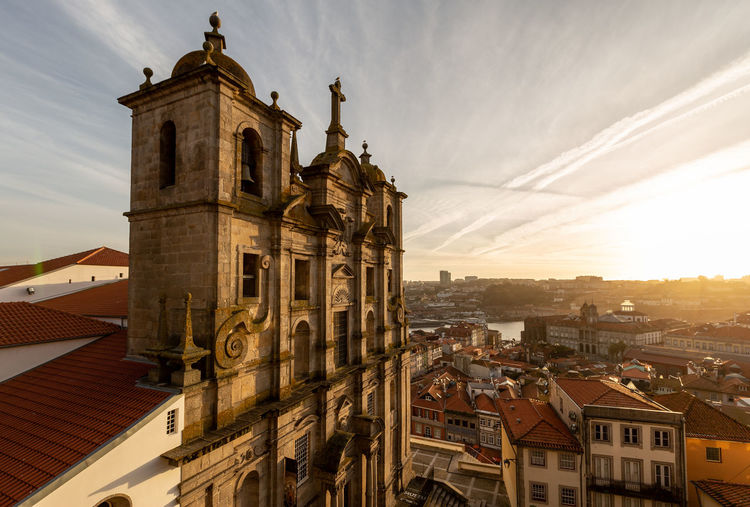 Grilos Church at Porto, Portugal Architecture Built Structure Building Exterior Building Sky City Religion Spirituality Place Of Worship Belief Cloud - Sky Sunset History The Past No People Cityscape Outdoors Gothic Style Porto Portugal Tourism Tourist Attraction  Tourist Destination Europe Travel