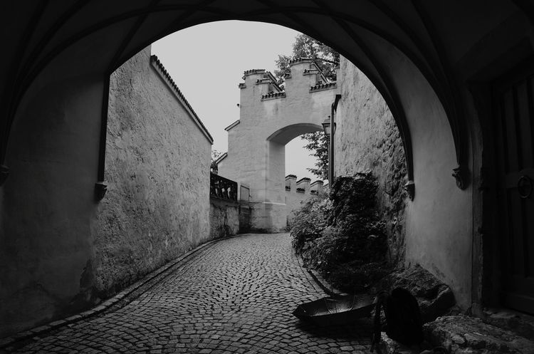 Rainy Days Black And White Arch Tranquility Scenics Architecture Built Structure No People History The Way Forward