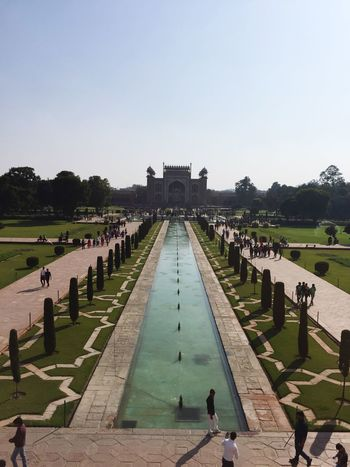 A view from the Taj
