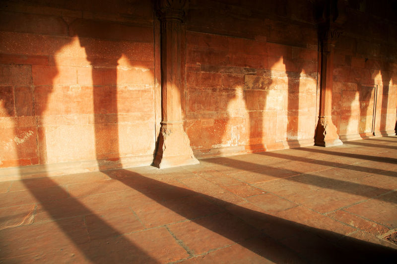 Sunlight Falling On Wall Of Red Fort