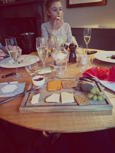 First Eyeem Photo Cheese Board Hotel Bridport Champagne Christmas Dinner Sister Family Eating Out Pretty Girl Cheese Selection Christmas Crackers Black Cow Cheese