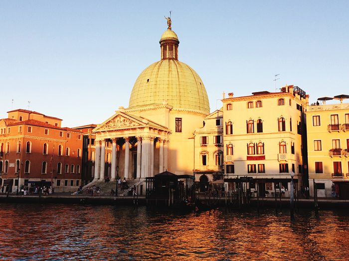 Architecture Building Exterior Built Structure Dome Water Religion Spirituality Clear Sky Waterfront Day Place Of Worship Outdoors Travel Destinations No People Nautical Vessel Sky