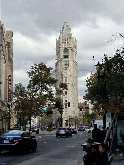 San Francisco City Clock Victorian Building San Francisco Streets