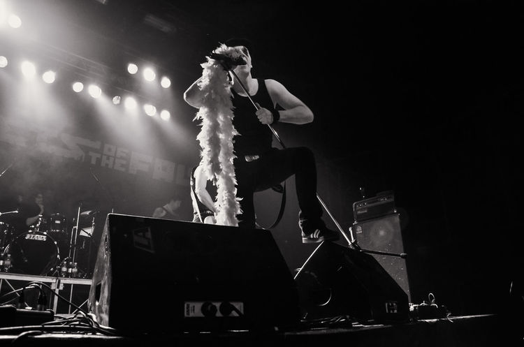 Poets Of The Fall Marko Saaresto Finnish  Stage Concert Performing Arts Event Bnw Singer